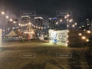 豊洲からの夜景を見ながらの写真・画像素材[2633418]