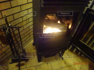 暖炉の写真・画像素材[2656224]