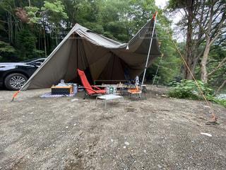 キャンプサイトの写真・画像素材[3589237]