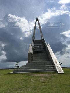 空へ続く階段の写真・画像素材[788148]