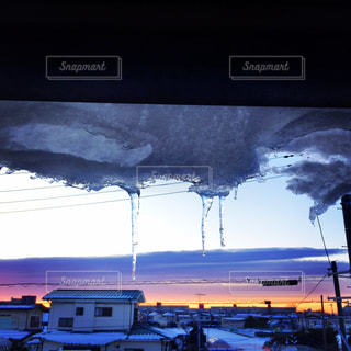 冬のベランダからの景色の写真・画像素材[1059070]