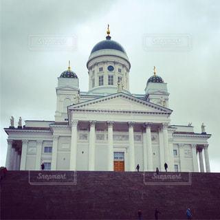 曇りのヘルシンキ大聖堂の写真・画像素材[788389]