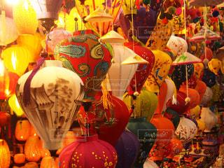 カラフルな風船のグループの写真・画像素材[1507700]