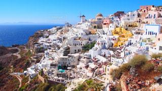 サントリーニ島の美しい景色の写真・画像素材[1542795]