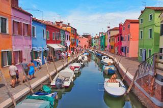 死ぬまでに1度は行きたい、イタリアのブラーノ島の写真・画像素材[3082505]