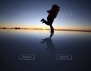 ウユニ塩湖の絶景の写真・画像素材[3392027]