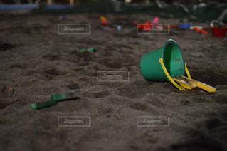 夜の砂場の写真・画像素材[1776334]