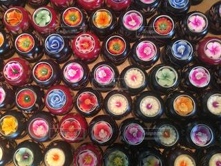 たくさんの可愛い花キャンドルの写真・画像素材[792825]
