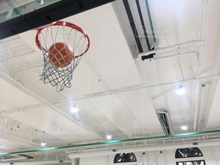 バスケットボール シュートが入った時の写真・画像素材[875315]