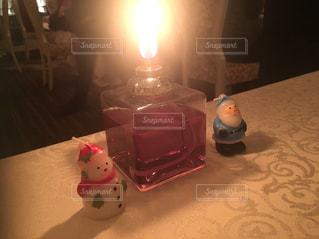 クリスマスディナーのキャンドルの写真・画像素材[914222]