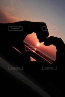 夕日と君との写真・画像素材[791310]