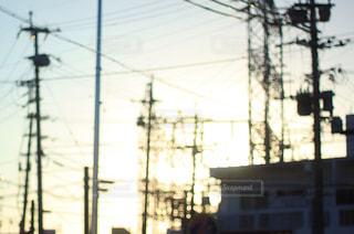 電柱ぼやりの写真・画像素材[868370]