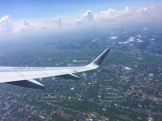 飛行機から見た地上の風景の写真・画像素材[793630]