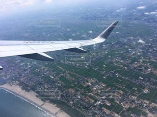 飛行機から見た地上の風景の写真・画像素材[793632]