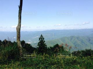 背景の山と木の写真・画像素材[793872]