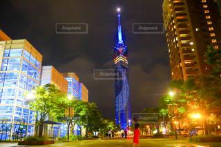夜の街の景色の写真・画像素材[795303]