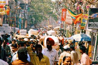 インドのローカルマーケットの写真・画像素材[799365]