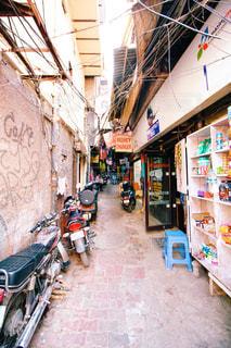 インドの路地裏の写真・画像素材[829324]