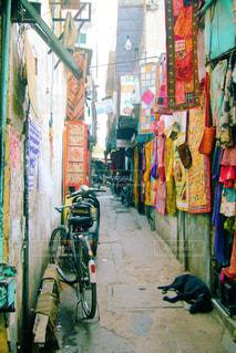 インドの路地裏の写真・画像素材[829325]