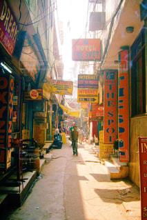 インドの路地裏の写真・画像素材[829326]