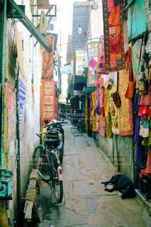 インドの路地裏の写真・画像素材[829334]