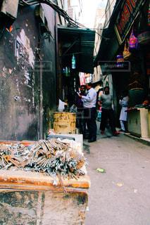 インドの路地裏の写真・画像素材[829341]