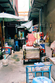 バンコクの路地の写真・画像素材[865184]
