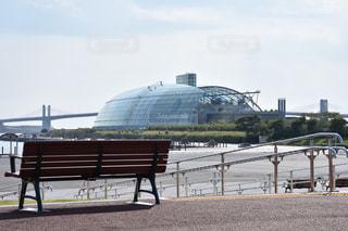 ベンチに座っている男の写真・画像素材[807068]