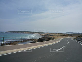 道路横ビーチの写真・画像素材[805757]