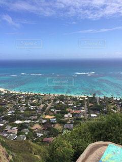 ハワイのラニカイビーチを上からの写真・画像素材[796066]
