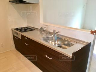 新築戸建ての対面キッチンの写真・画像素材[807612]