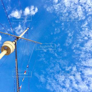 甲板から見上げた青空 - No.796757