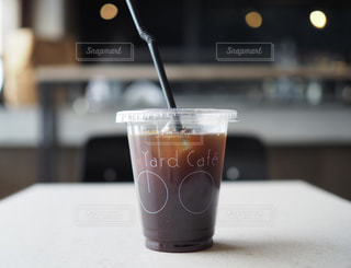 尾道U2のYardcafeでアイスコーヒーの写真・画像素材[1404120]