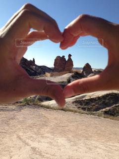 ラクダ岩とハートの写真・画像素材[800506]