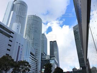 名古屋駅前の高層ビルの写真・画像素材[1033601]