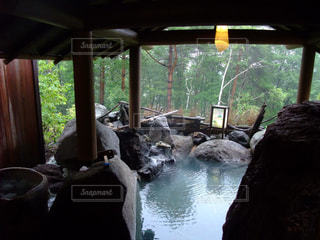 露天風呂の写真・画像素材[801796]