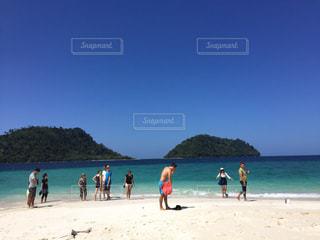 タイの離島 リペ島の写真・画像素材[801070]