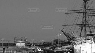 モノクロ海王丸の写真・画像素材[1841423]
