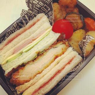 サンドイッチ弁当の写真・画像素材[1203767]