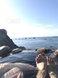 オーシャンビューとゆうかオーシャン…な温泉の写真・画像素材[805800]