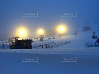 早朝の苗場スキー場の写真・画像素材[803148]