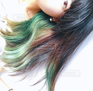 緑のインナーカラー - No.805179