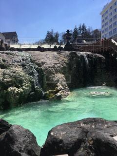 草津温泉の湯畑の写真・画像素材[804439]
