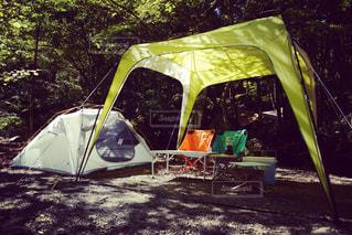 森の中のテントの写真・画像素材[805942]
