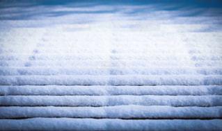 雪のラインの写真・画像素材[982863]