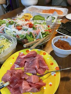 巻き寿司ホームパーティーの写真・画像素材[4621301]