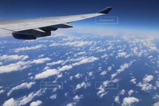 高空を飛んでいる飛行機の写真・画像素材[809592]