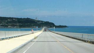 古宇利大橋 橋と海の写真・画像素材[808863]