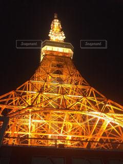 東京タワー夜ライトアップの写真・画像素材[810008]