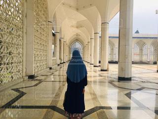 青のモスクにて(マレーシア)の写真・画像素材[2850022]